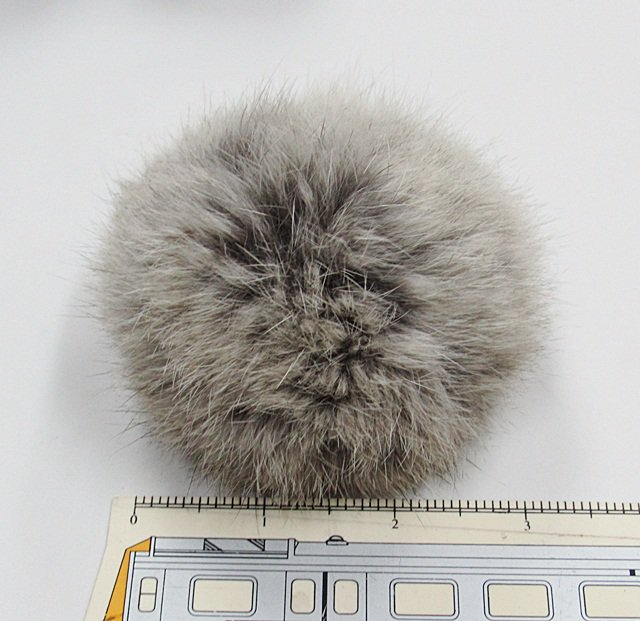 5 piece Handmade Dyed grey Color Rabbit fur boa ; fluffy Thick Feather boa #FB13