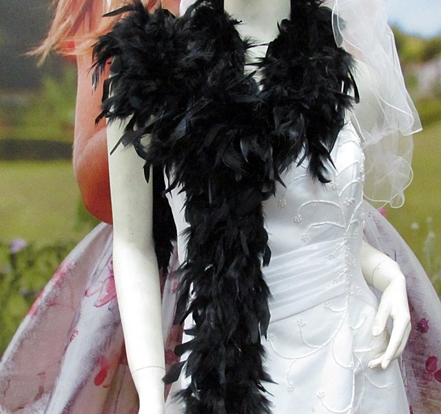 """70g 70"""" montan fuzzy chandelle feather boa for dancer , decoration ,party, wedding F50"""