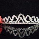 Bride tiara sparkle crystal wedding bridesmaid accessories silver metal rhinestone headpiece 8260