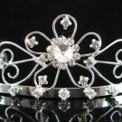 Bride tiara; sparkle crystal wedding bridesmaid accessories silver metal rhinestone headpiece #65s