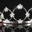 Bride tiara; sparkle crystal wedding bridesmaid accessories silver metal rhinestone headpiece #708s