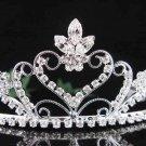 bridesmaid accessories;Bride tiara; sparkle crystal wedding silver rhinestone headpiece #8740s