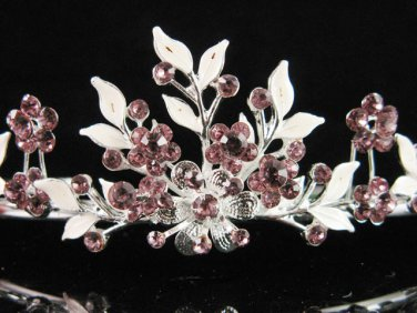 Alloy floral bridesmaid accessories;Bride tiara; crystal wedding silver rhinestone headpiece #6571pu