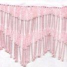 "Handmade 38"" Long scallop pattern glass beaded fringe ;opera dancer parts ;garment accessories#30p"