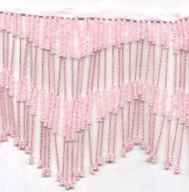 "Handmade 38"" Long scallop pattern glass beaded fringe ;opera dancer parts ;garment accessories#30p"