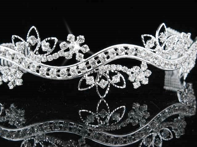 Pageant Bridal Tiara;Wedding Rhinestone Tiara;Bride Regal Tiara;Party Occasion Hair accessories#33
