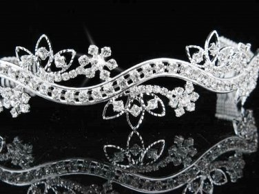 Pageant Bridal Tiara;Wedding Rhinestone Tiara;Bride Regal Tiara;Party Occasion Hair accessories#33