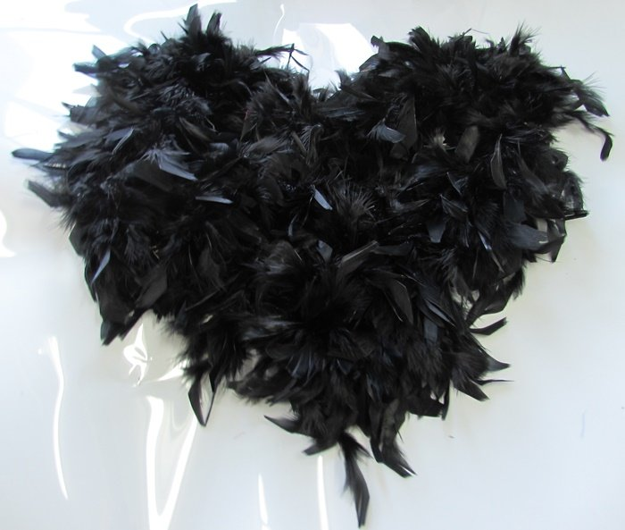 "72"" 48g black Coque Rooster marabou feather ;Party fluffy Chandelle;opera dancer accessories#bk"