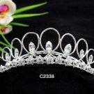 Handmade Bridal silver crystal comb ;wedding tiara;bride headpiece ;opera accessories #2338