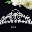 Handmade Bridal silver crystal comb ;wedding tiara;bride headpiece ;opera accessories #2342