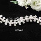 Handmade Bridal silver crystal comb ;wedding tiara;bride headpiece ;opera accessories #2645