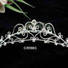 Handmade Bridal silver crystal comb ;wedding tiara;bride headpiece ;opera accessories #4598s