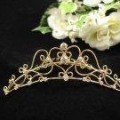 Handmade Bridal silver crystal comb ;wedding tiara;bride headpiece ;opera accessories #4598g