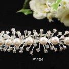 Handmade Bridal silver crystal comb ;wedding tiara;bride headpiece ;opera accessories #1124
