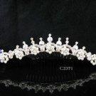 Handmade Bridal silver crystal comb ;wedding tiara;bride headpiece ;opera accessories #2371