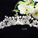 Huge Bridal silver crystal comb ;wedding tiara;bride headpiece ;opera accessories #6155s
