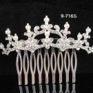 Fancy Bridal silver crystal comb ;wedding tiara;bride headpiece ;opera accessories#716s