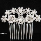 Fancy Bridal silver crystal comb ;wedding tiara;bride headpiece ;opera accessories#5910s