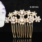 Fancy Bridal golden pearl crystal comb ;wedding tiara;bride headpiece ;opera accessories#5910g