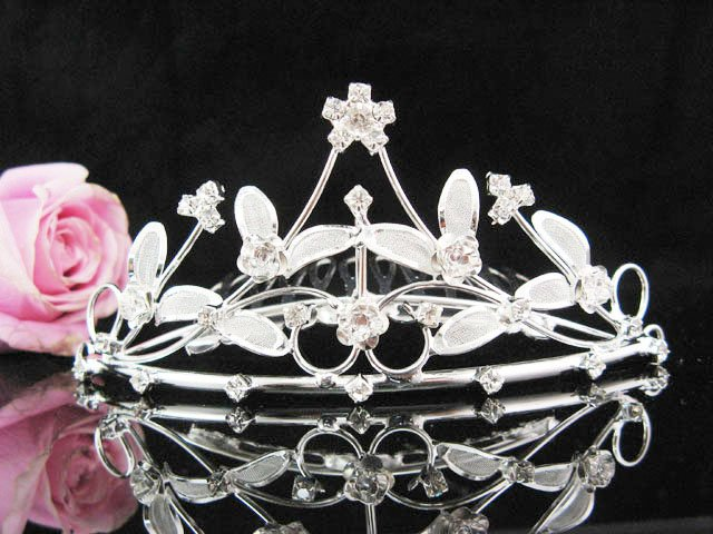 Flower girl comb;Bridal crystal comb ;wedding tiara;bride headpiece ;opera accessories#17