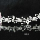 Silver floral hair comb;Bridal crystal comb ;wedding tiara;bride headpiece ;opera accessories#5548
