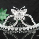 Silver butterfly comb;Bridal crystal comb ;wedding tiara;bride headpiece ;opera accessories#265