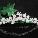 Silver floral hair comb;Bridal crystal comb ;wedding tiara;bride headpiece ;opera accessories#523s