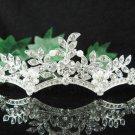 Silver floral hair comb;Bridal crystal comb ;wedding tiara;bride headpiece ;opera accessories#650
