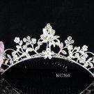 Silver floral hair comb;Bridal crystal comb ;wedding tiara;bride headpiece ;opera accessories#760