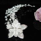 Silver floral hair comb;Bridal crystal comb ;wedding tiara;bride headpiece ;opera accessories#2227