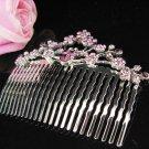 Fancy Floral hair comb;Bridal crystal comb ;wedding tiara;bride headpiece ;opera accessories#1065pu