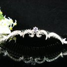 Silver Bridal crystal comb ;fancy hair comb;Wedding tiara;bride headpiece ;opera accessories#587