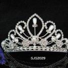 Silver floral hair comb;Bridal crystal comb ;Wedding tiara;bride headpiece ;opera accessories#2029