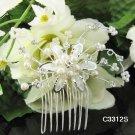 Handmade silver crystal comb ;Wedding tiara;bride headpiece ;opera accessories#3312