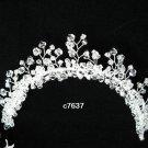 Handmade silver crystal comb ;Wedding tiara;bride headpiece ;opera accessories#7637