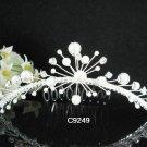 Handmade silver crystal comb ;Wedding tiara;bride headpiece ;opera accessories#9249