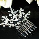 Floral silver crystal comb ;Wedding tiara;bride bridesmaid headpiece ;opera accessories#941