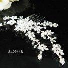 Floral silver crystal comb ;Wedding tiara;bride bridesmaid headpiece ;opera accessories#944
