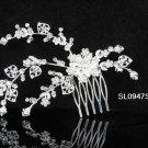Floral silver crystal comb ;Wedding tiara;bride bridesmaid headpiece ;opera accessories#947