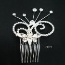 Fancy silver crystal comb ;Wedding tiara;bride bridesmaid headpiece ;opera accessories#3373