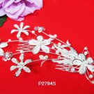 Floral silver crystal comb ;Wedding tiara;bride bridesmaid headpiece ;opera accessories#2794s