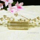 Floral golden crystal comb ;Wedding tiara;bride bridesmaid headpiece ;opera accessories#2016g