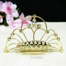 Gorgeous golden crystal comb ;Wedding tiara;bride bridesmaid headpiece ;opera accessories#2340g