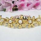 Sweet golden crystal comb ;Wedding tiara;bride bridesmaid headpiece ;opera accessories#3049g