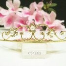 Fancy golden crystal comb ;Wedding tiara;bride bridesmaid headpiece ;opera accessories#3491g