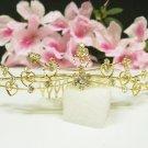 Fancy golden crystal comb ;Wedding tiara;bride bridesmaid headpiece ;opera accessories#5471g
