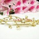 Wedding tiara;Fancy golden crystal comb ;bride bridesmaid headpiece ;opera accessories#5472g