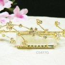 Wedding tiara;Fancy golden crystal comb ;bride bridesmaid headpiece ;opera accessories#5477g