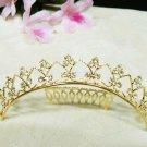 Sweet Wedding tiara;Fancy golden crystal comb ;bride bridesmaid headpiece ;opera accessories#6537g