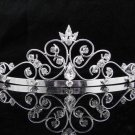 New Wedding tiara;Fancy silver crystal tiara;bride bridesmaid headpiece ;opera accessories#9190